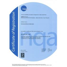 Certifikát ISO 9001:2008 cz