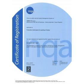 Certifikát ISO 9001:2008 en